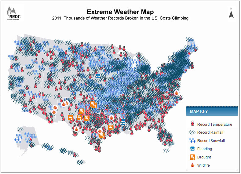 Natural Resources Defense Council NRDC Extreme Weather Map - Us natural resources map